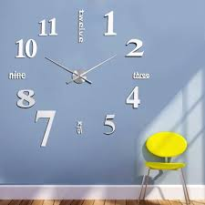 wholesale diy 3d wall clocks mirror face acrylic numeral wall