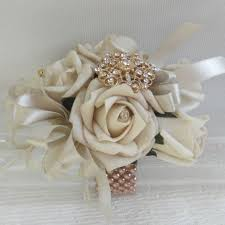 wrist corsages for homecoming gold wrist corsage prom corsage