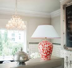 Schlafzimmer Lampe Und Nachttischlampe Keramik Tischlampe Rot Handgemalt In Italien Ambiarte