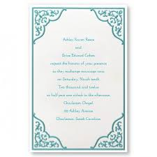 wedding invitations borders dramatic aqua border wedding invitations personalized