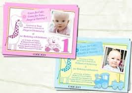 u0026 boy joint christening u0026 first birthday invitations cards