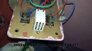 how to install fan regulator in 2 way switches youtube