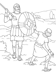 david and goliath coloring page eson me