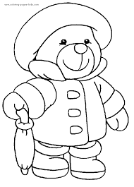 build bear colouring pages funycoloring