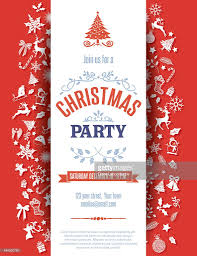red christmas party invitation template vector art getty images