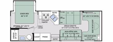 Bunkhouse Floor Plans by Bunk Beds Class A Rv Floor Plans Thor 31e Bunkhouse Holiday