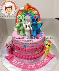 my pony birthday cake my pony a cakeshoppe singapore customized 2d and