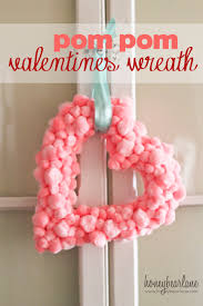 how to make valentine wreaths easy valentines pom pom wreath home