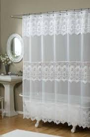 Amazon Com Shower Curtains - amazon bathroom curtains gpd newport 60inch x 24 inch button tab