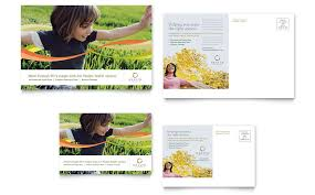 health insurance company postcard template word publisher