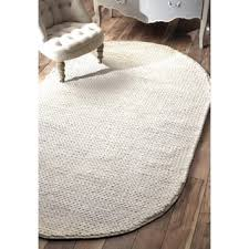 Scotchgard Wool Rug Nuloom Handmade Braided Cable White New Zealand Wool Rug 3 U0027 X 5