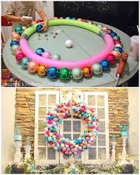 these wreath diys will make you smile pool noodles noodle