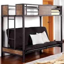 Black Metal Futon Bunk Bed Furniture Of America Brighton Wood Panel Futon Bunk Bed