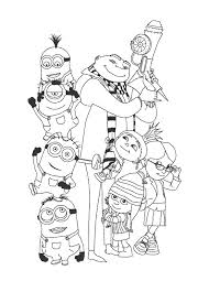 print minion coloring pages u201cdespicable u201d free