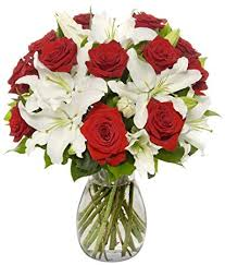 roses and lilies benchmark bouquets roses and white