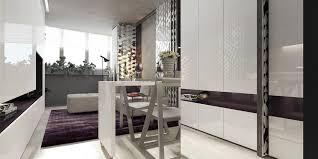 beautiful purple in minimalist apartment design roohome