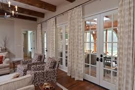 French Door Curtains Family Room With Embroidery Brown - Family room in french