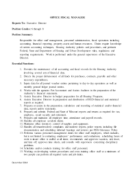 Contract Specialist Resume Example by Fha Maintenance Supervisor U0026 Office Manager Draft Update Dec 2014