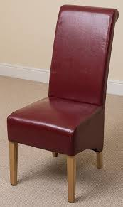 Kitchen Chairs by Montana Leather Dining Chair Burgundy Amazon Co Uk Kitchen U0026 Home