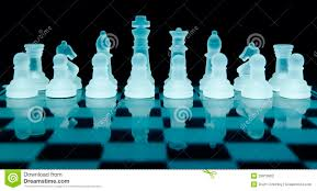 glass chess pieces stock photography image 29919952