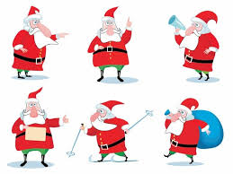 christmas santa claus vector set christmas vector graphics art