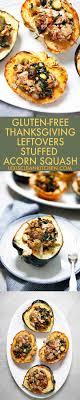 thanksgiving stuffed acorn squash thanksgiving leftovers recipe