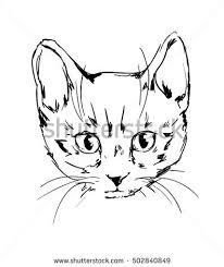 cute cat sketch vector illustration stock vector 425213428