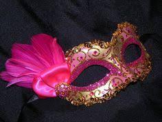 pink masquerade masks cantaloupe pink and gold masquerade mask brocade by soffitta