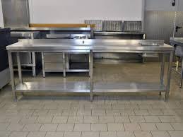 Arbeitstisch Arbeitstisch Spueltisch 240 X 50 Cm Edelstahl