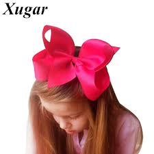 hair ribbon 1 pc 6 big solid grosgrain ribbon hair bow hairpins for kid