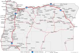 map of oregon cities road maps of the united states