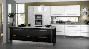 Black Gloss Kitchen Cabinets Kitchen Stylish Kitchen Designs With White And Black Kitchen