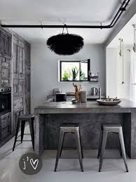 industrial kitchen islands go beyond the common aesthetics with concrete kitchen islands