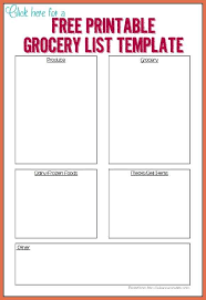 shopping list template need a quicker way to keep track of what