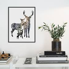 popular big head poster buy cheap big head poster lots from china modern nordic vintage deer head family animal silhouette hipster a4 big art print poster wall picture