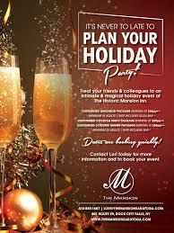 plan your holiday party the mansion inn