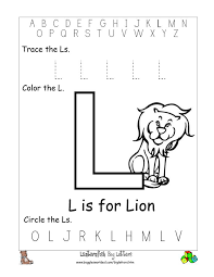 practice writing the letter l coloring page the l for lion and