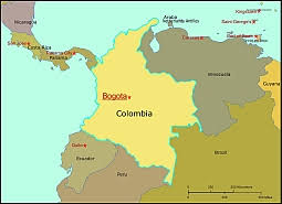 colombia map vector colombia free vector map