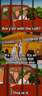 king of the hill are y all with the cult meme research