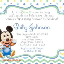 baby mickey baby shower baby mickey baby shower invitations free card design ideas