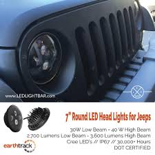 jeep light bar led round headlights for jeeps u0026 any other 7