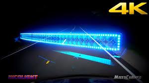 multi color led light bar nicolight 300w 52 curved led light bar 30000 lumens detailed look