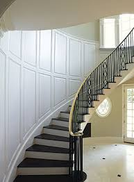 Molding For Wainscoting Paint Grade Wainscot On A Curved Stairwell Fine Homebuilding