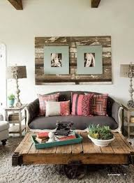 rustic shabby chic living room interior design