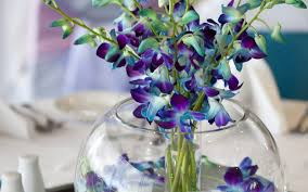 blue orchids blue orchid centerpieces for weddings blue wedding flowers blue