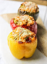 thanksgiving leftovers stuffed bell peppers