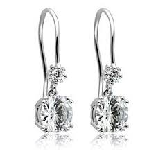 leverback diamond earrings 3ct cz diamond leverback hoop dangle drop earrings