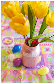 Flower Vase Crafts Diy Painted Mason Jar Flower Vase