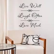 live laugh love quote wall sticker by mirrorin