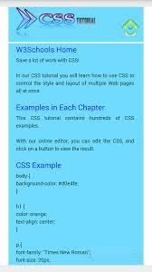 w3schools css offline android apps on google play